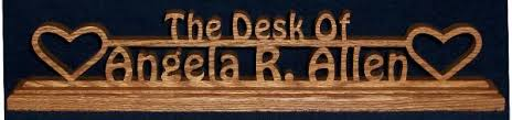 Custom Desk Plaque The Wood Nook Personalized Custom Wooden Signs