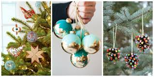 How To Decorate Christmas Balls Ornaments 32 Homemade Diy Christmas Ornament Craft Ideas How To Make Holiday