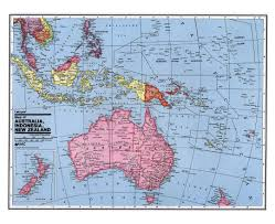 New Zealand And Australia Map Maps Of Oceania And Oceanian Countries Political Maps Road And
