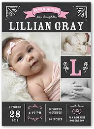 baby announcements chalkboard introduction 5x7 birth announcements shutterfly