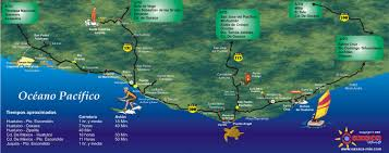 Map Of Oaxaca Mexico Beaches Of Oaxaca Coast Own Mexico