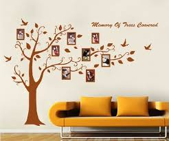 large brown photo picture frame tree vine branch removable wall