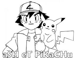 ash pikachu coloring pages cartoon cute and funny pikachu