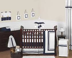 Navy Blue And Gray Bedding Hotel White U0026 Navy Blue Baby Bedding Set By Sweet Jojo Designs 9