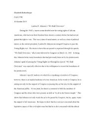 Soapstone Analysis Example Rhetorical Analysis Of Lyndon B Johnson U0027s