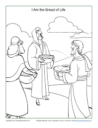 Bread Of Life Coloring Page Children S Bible Activities Sunday Bread Coloring Page