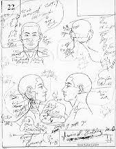 coroners sketch of the wounds on ronald goldman crime