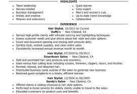 hair stylist resume sample hair stylist salon spa fitness summary