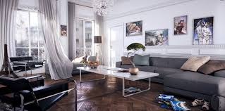 handsome black white grey living room decoration using accent