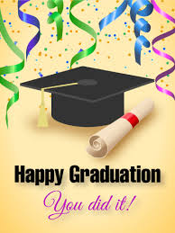graduation photo cards you did it happy graduation card birthday greeting cards by davia