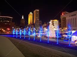christmas lights in tulsa ok tulsa winterfest night city street park pixoto