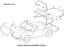 stoddard porsche 911 parts porsche 911 targa windshields glass window rubber seals and trim