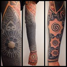 white on black sleeve tattoo best tattoo ideas gallery