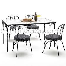 Rod Iron Dining Room Set Chair Design Ideas Wrought Iron Dining Chairs With Wheels