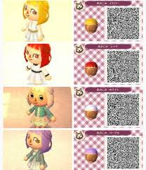 acnl hairstyle guide hair braids animal crossing new leaf qr codes pinterest