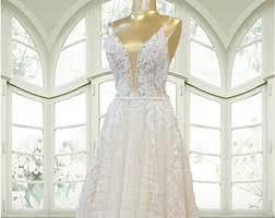 bling wedding dresses bling wedding dress etsy