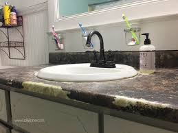 How To Tile A Bathroom Countertop - i chalk painted my countertops lolly jane