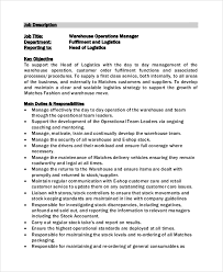 Warehouse Job Duties Resume by Warehouse Job Description Warehouse Worker Job Description
