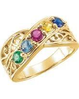 mothers rings with 2 stones amazing deal on 14k gold family s ring 4 available