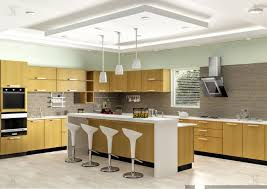 25 modular kitchen island ideas 6338 baytownkitchen modular kitchen interior with brown cabinet and classic chairs interior modular kitchen with white chairs and hanging lamps