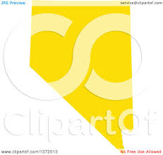 State Of Nevada Map by Clipart Of A Yellow Silhouetted Map Shape Of The State Of Nevada