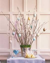 spring decorations for the home decorating easter eggs for a spring tree martha stewart
