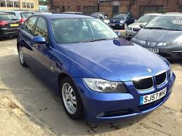 used bmw 3 series uk used 2007 bmw 3 series saloon blue edition 318i es 4dr petrol for