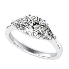 three stone engagement rings trillion three stone diamond engagement ring sku rd0419