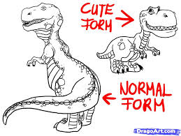 draw cute dinosaurs cake ideas and designs clip art library