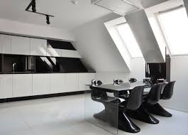 black and white home interior cold and minimalist interior in black and white home building