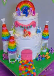 my pony rainbow castle cake cakecentral