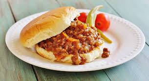 two meat sloppy joes syrup and biscuits