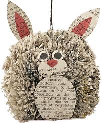 go green this with adorable recycled newspaper ornaments