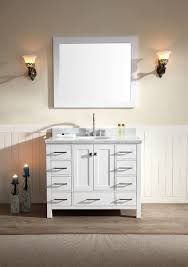 43 Vanity Top With Sink Ace 43 Inch Single Sink Bathroom Vanity Set In White Finish