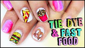 tie dye fast food gel nail art youtube