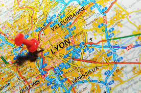 Map Of Lyon France by London Uk 13 June 2012 Lyon France Marked With Red Pushpin