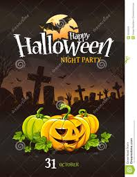 halloween poster design stock vector image 45190525