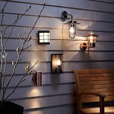 outdoor double wall light buy john lewis sabrebeam outdoor double wall light copper online at