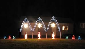 nice arches with icicle lights bright christmas lights
