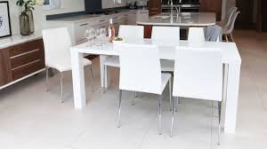White High Gloss Extending Dining Table And Chairs Uk - Black and white dining table with chairs