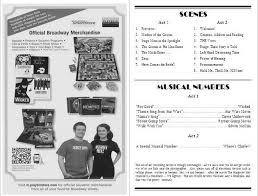 wedding program format 26 images of theater playbill play template infovia playbill