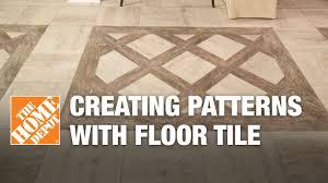 creating patterns with glazed porcelain floor tile