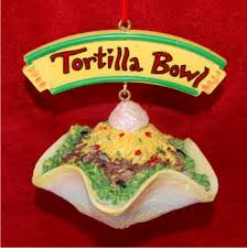 mexican food taco salad personalized ornaments by