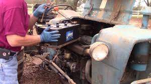 1974 ford 3000 battery replacement youtube
