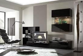 modern set of living room furniture wall tv unit design for living
