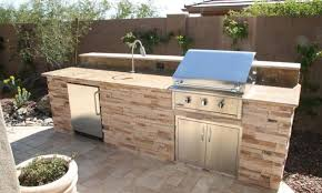 Outdoor Kitchen Bbq Designs Exterior Chic Outdoor Kitchen Barbecue Design With White