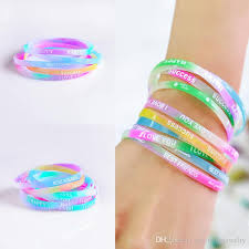 silicone rubber wristband bracelet images 2018 fashion silicone summer sport bracelets printed candy color jpg