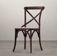 Restoration Hardware Dining Room Chairs Side Chair Stained Wood