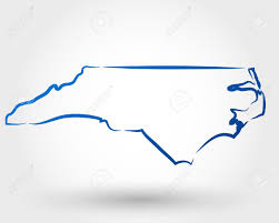 North Carolina State Map by Map Of North Carolina Map Concept Royalty Free Cliparts Vectors