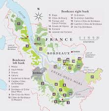 Wine Map Of France by Bordeaux Map Simple Gif
